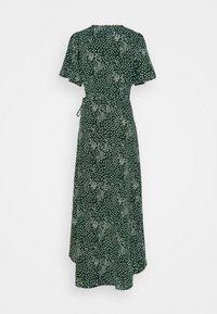 Missguided Tall - HIGH LOW WRAP MIDI DRESS POLKA DOT - Maxi dress - green - 1