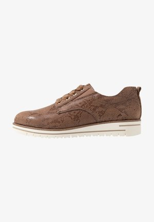 WOMS LACE-UP - Chaussures à lacets - taupe