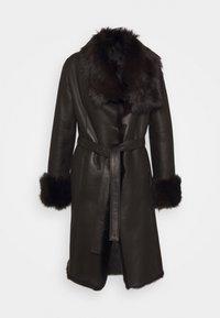 STUDIO ID - FLO COAT - Leather jacket - chocolate - 7