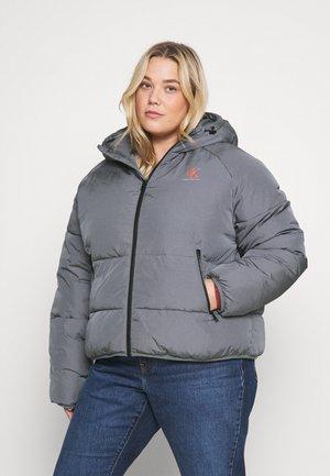 PLUS BIG LOGO PUFFER - Winter jacket - grey