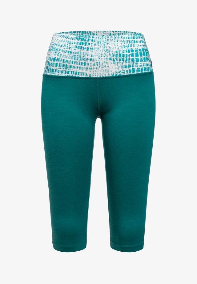 W SUPER - 3/4 sports trousers - green