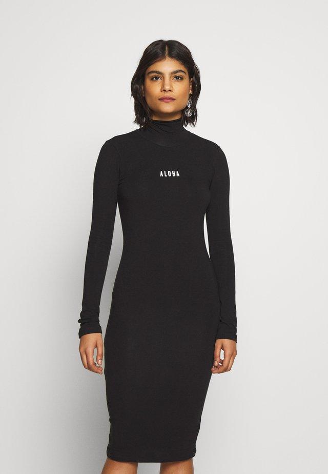HIGH NECK DRESS - Robe d'été - black