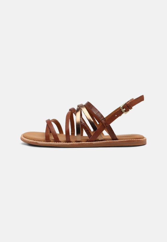 KARSEA - Sandaalit nilkkaremmillä - tan