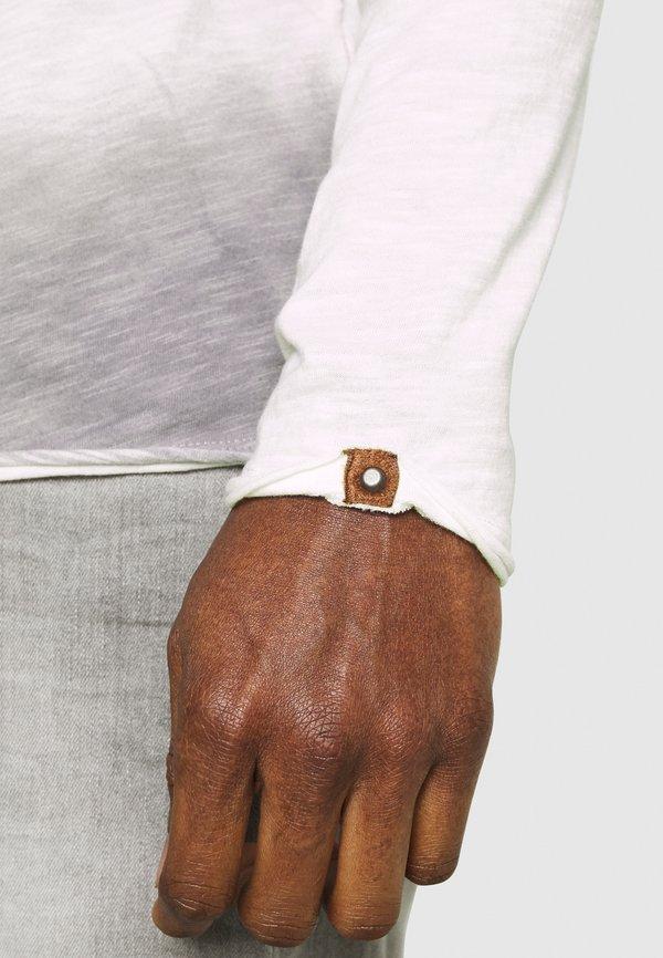 Key Largo ENDEAVOUR ROUND - Bluzka z długim rękawem - silver/szary Odzież Męska YGPW