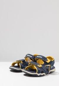 Timberland - ADVENTURE SEEKER 2 STRAP - Walking sandals - navy/yellow - 3