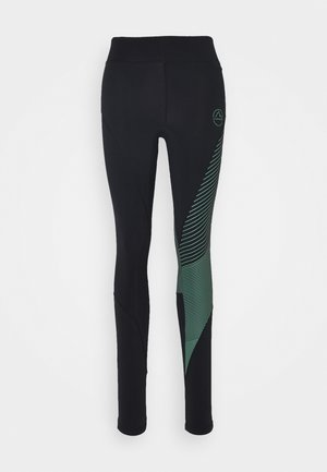 SUPERSONIC PANT  - Tights - black/grass green