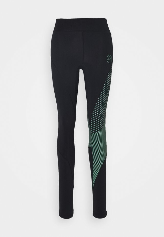 SUPERSONIC PANT  - Leggings - black/grass green