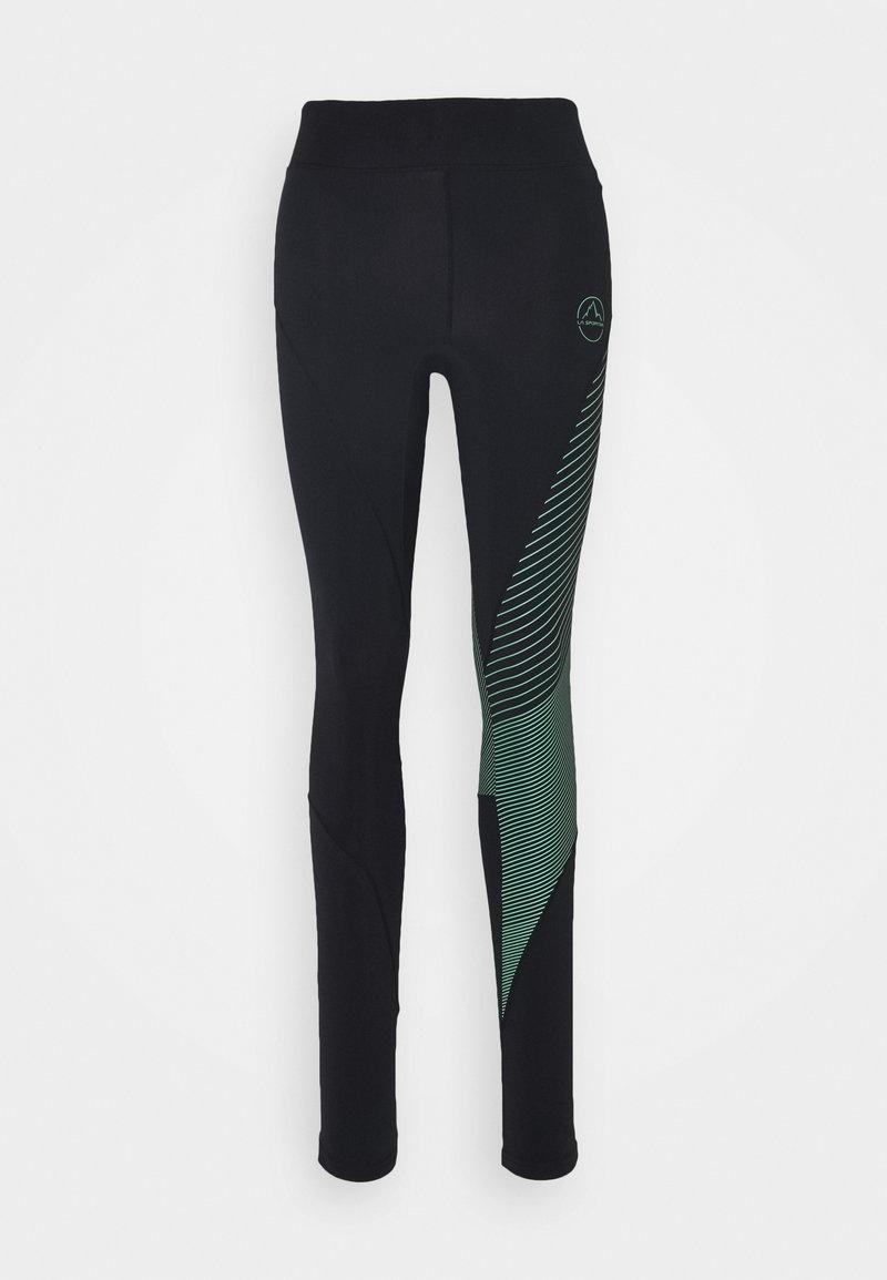 La Sportiva - SUPERSONIC PANT  - Tights - black/grass green