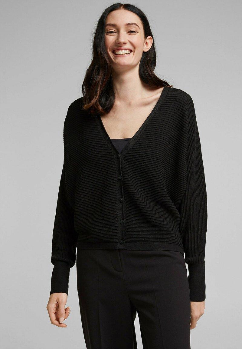 Esprit Collection - OPEN CARDI - Cardigan - black