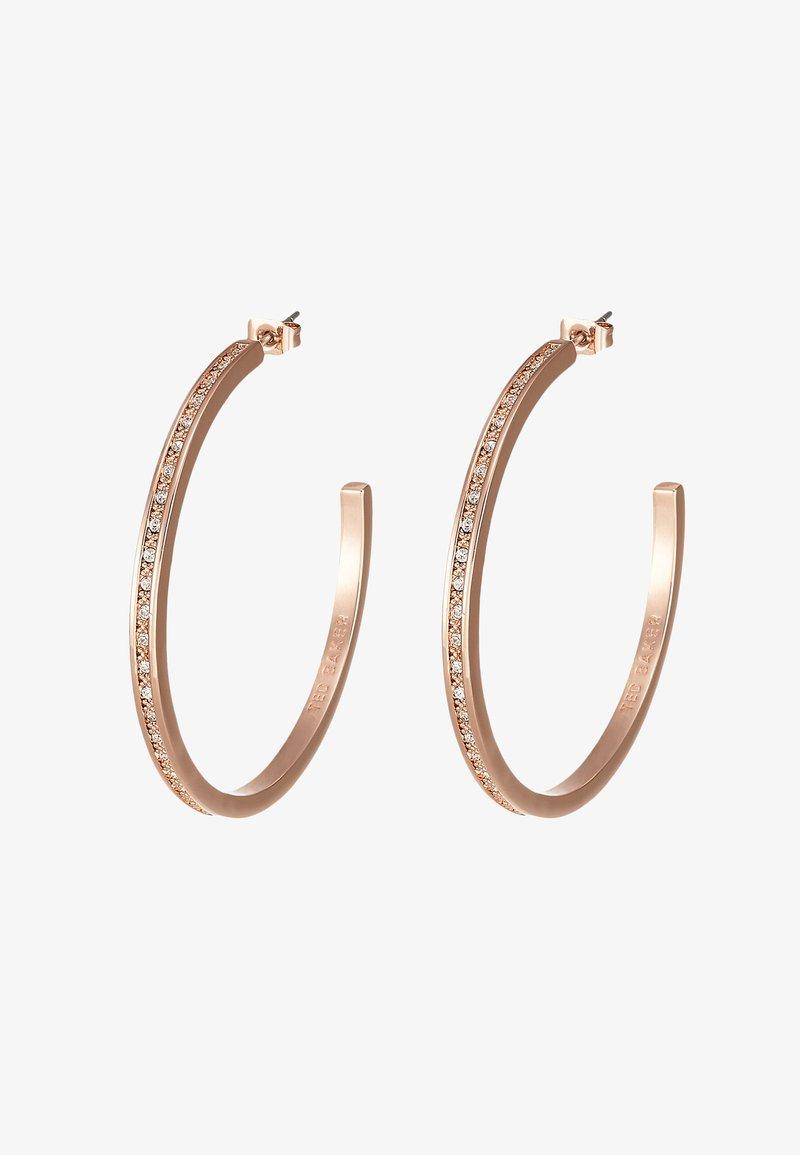 Ted Baker Senra Large Hoop Earring Earrings Rose Gold Coloured Zalando Ie