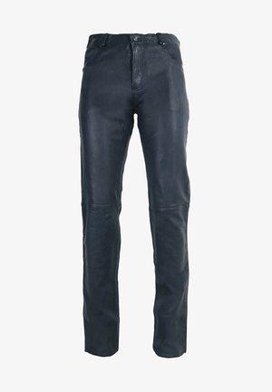 TRANT  - Leather trousers - blau