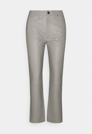 THE RELAXED STAIGHT - Leren broek - silver grey
