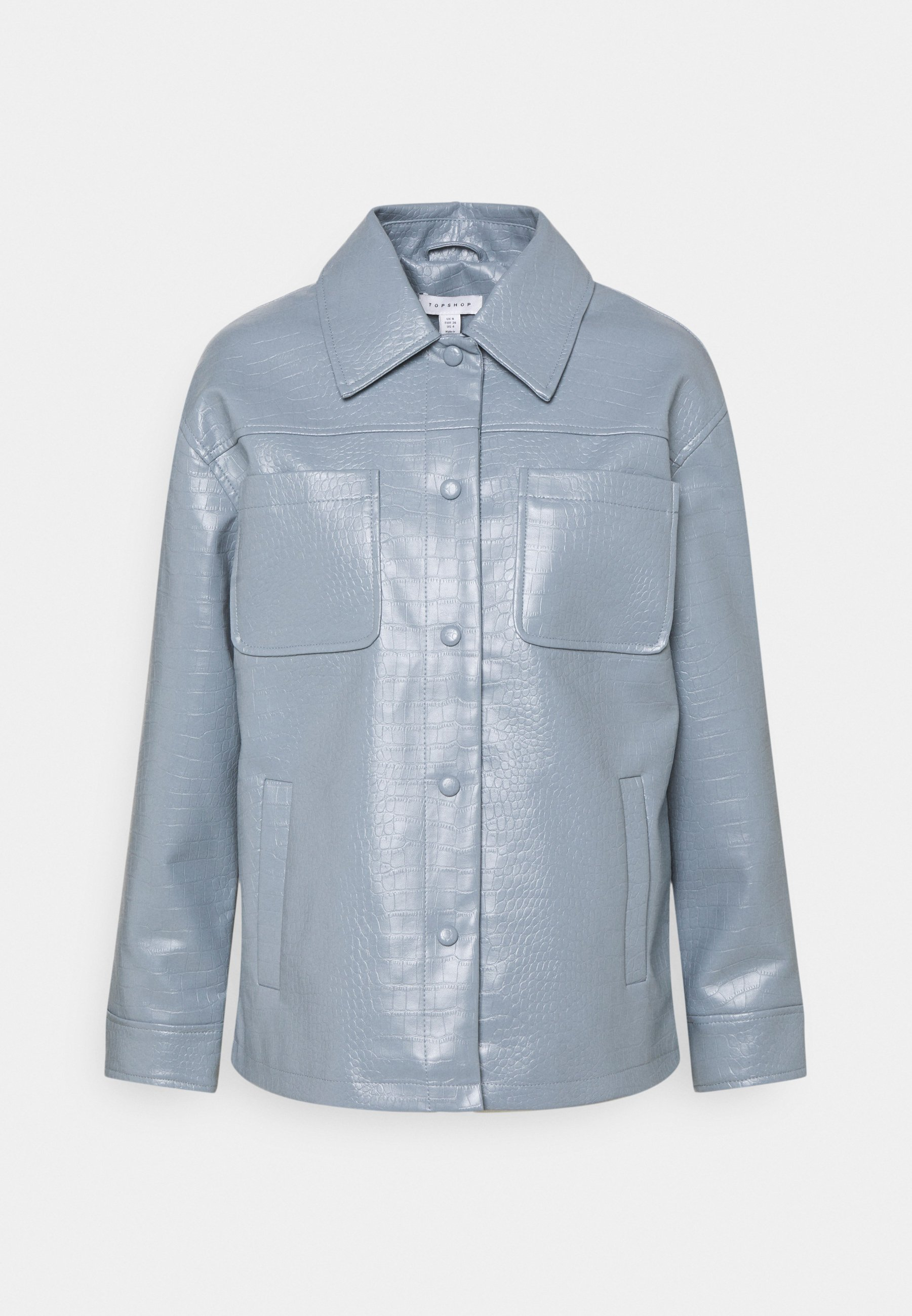 Women BOXY SHACKETT CROC - Faux leather jacket
