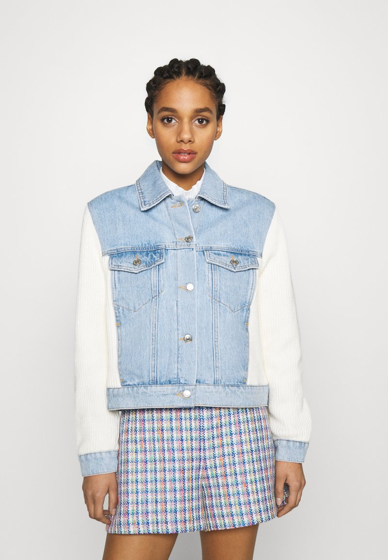 maje - BERLINGOT - Denim jacket - bleu ciel