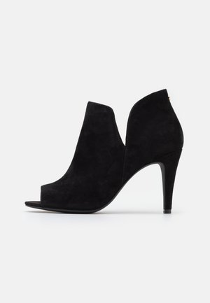LEATHER - High heeled ankle boots - black