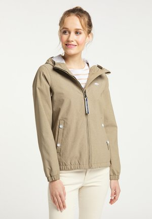 Waterproof jacket - khaki melange