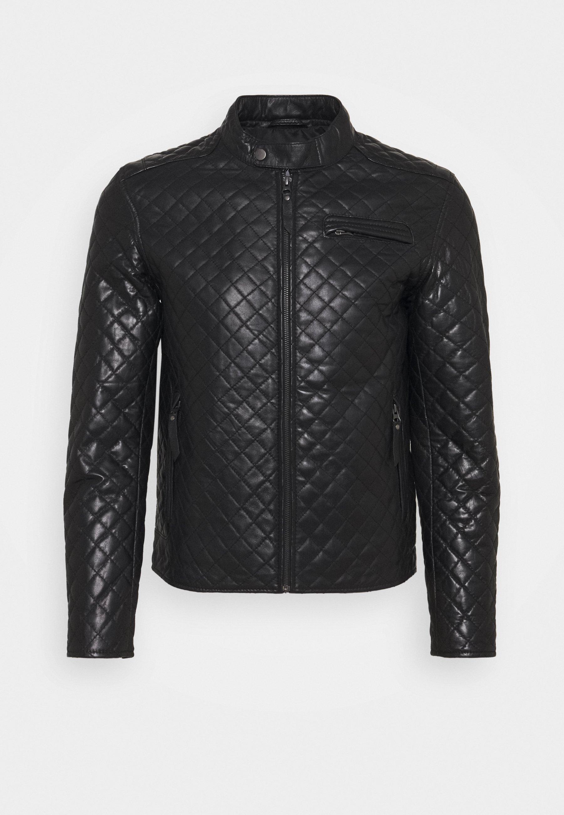 Men QUILT - Leather jacket