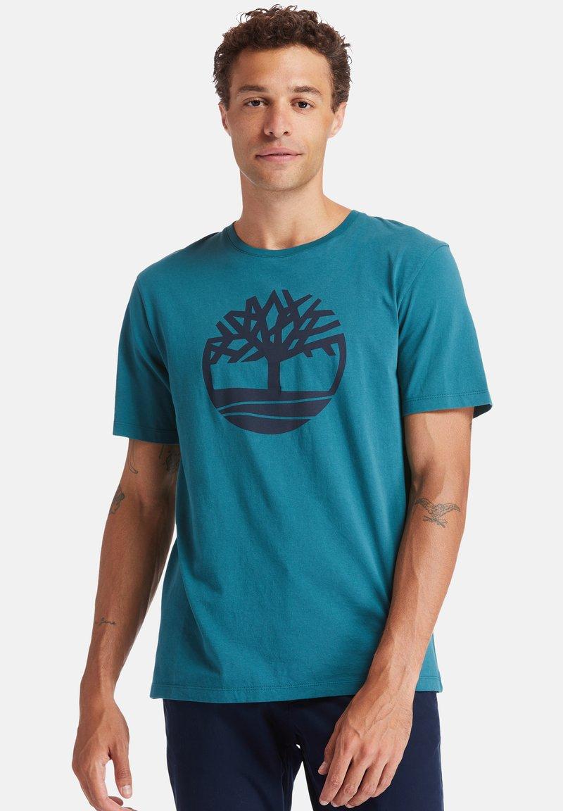 Timberland - T-shirt imprimé - atlantic deep