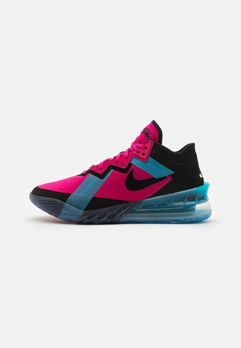 Nike Performance - LEBRON XVIII LOW - Basketball shoes - fireberry/black/light blue fury