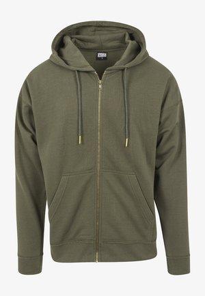 veste en sweat zippée - olive