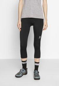 ODLO - ELEMENT - 3/4 sportovní kalhoty - black - 0
