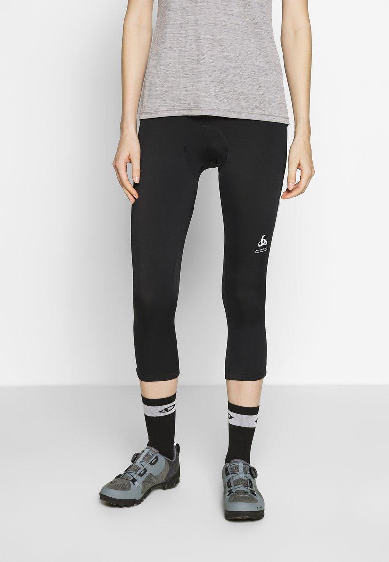 ODLO - ELEMENT - 3/4 sportovní kalhoty - black