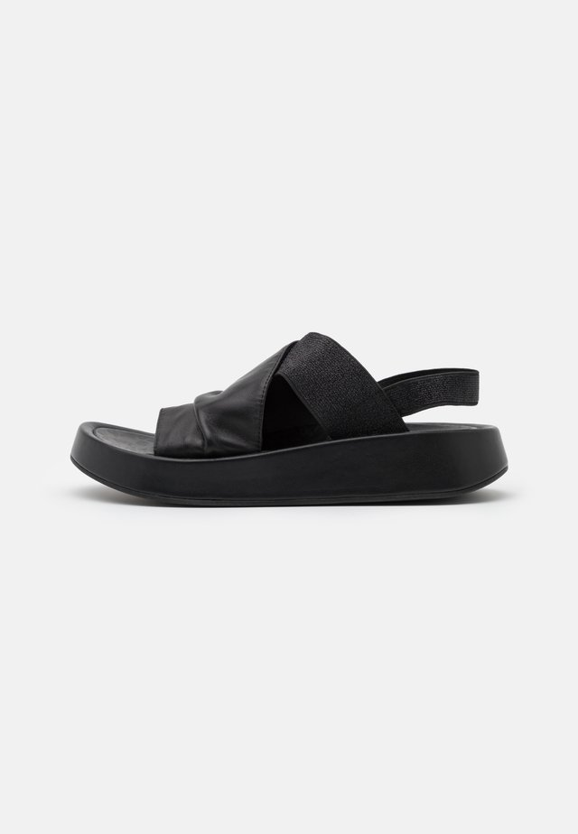TOPAZ - Korkeakorkoiset sandaalit - nero
