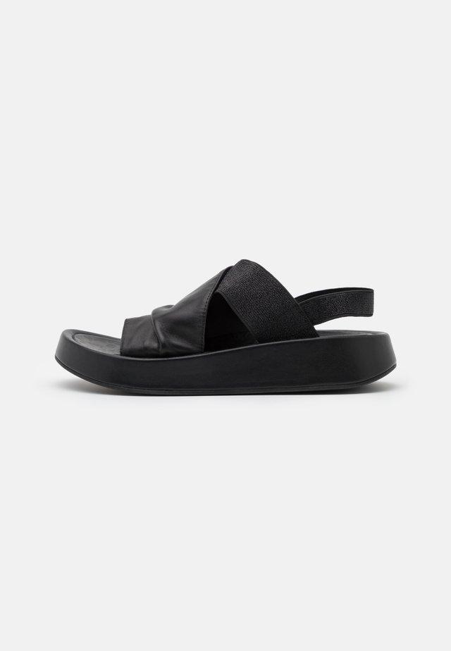 TOPAZ - Sandales à plateforme - nero