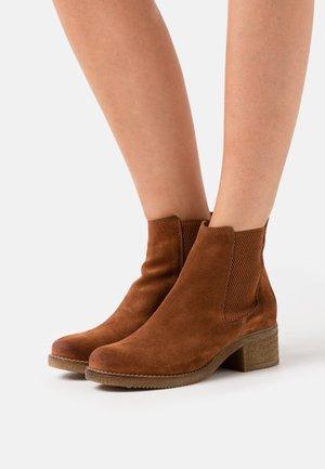 ZORA - Classic ankle boots - cognac