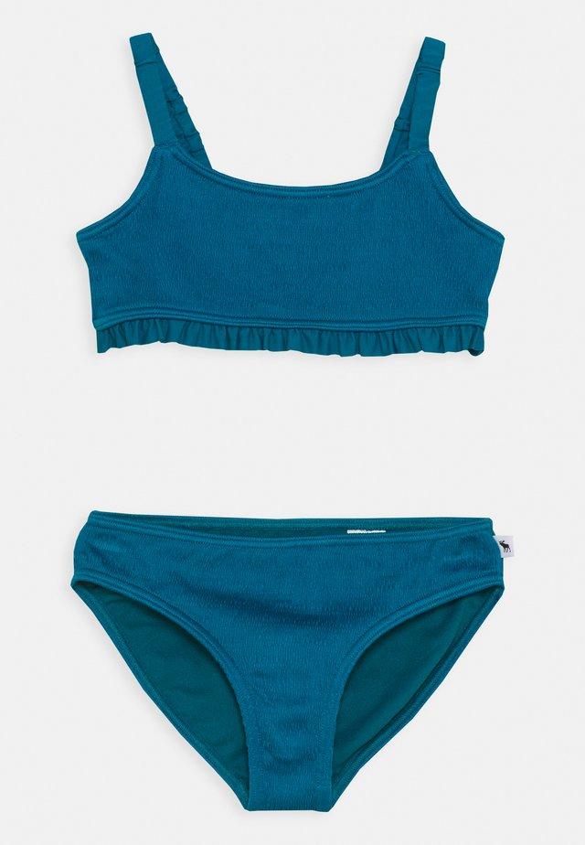 RUCHED KEYHOLE SET - Bikini - ocean blue