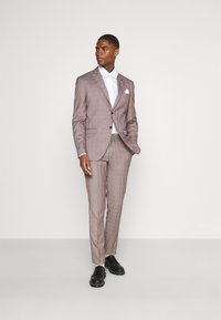 Selected Homme - SLHSLIM KNOXLOGAN CHECK SUIT SET - Traje - red dahlia/white - 1