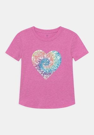 GIRL FLIPPY - T-shirt con stampa - budding lilac
