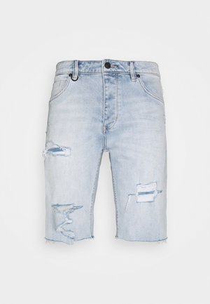 RAY - Denim shorts - light-blue denim