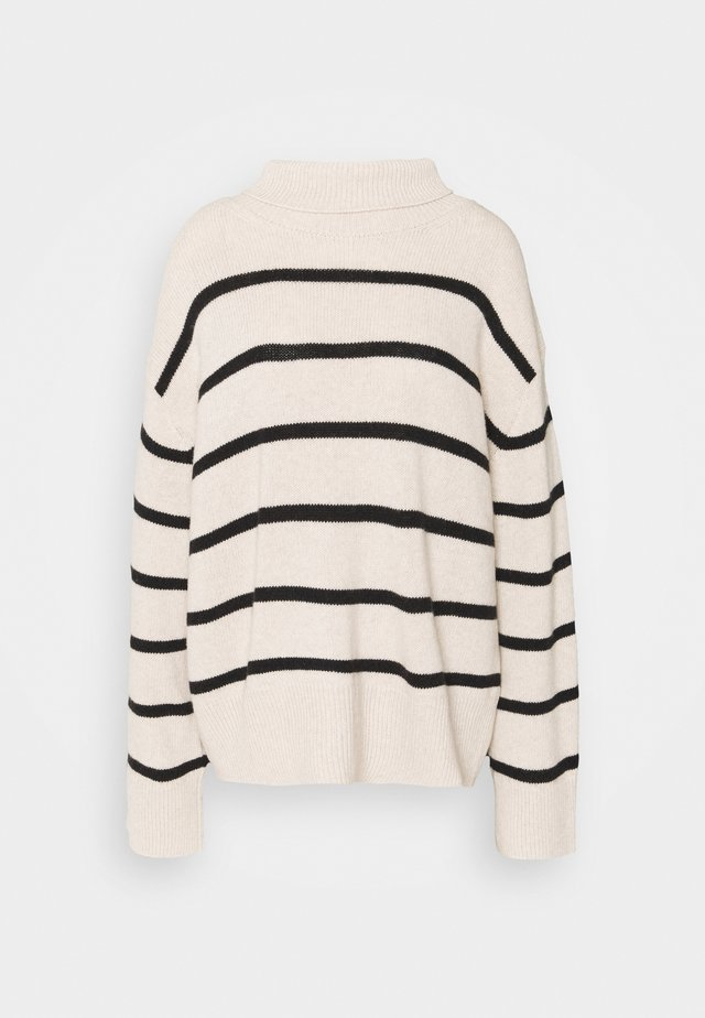 MAZZY STRIPE - Sweter - off-white