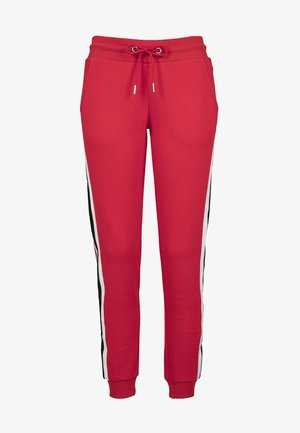 Tracksuit bottoms - firered/wht/blk