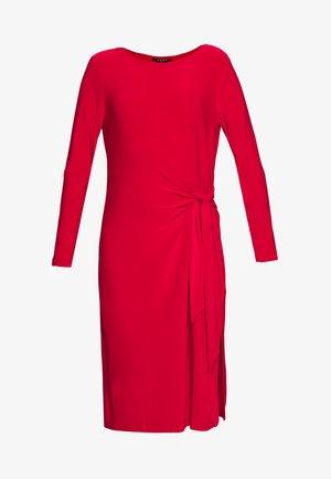 KNOT DETAIL DRESS - Jersey dress - engine red