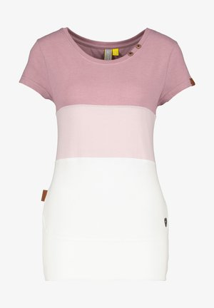 CLEAAK - Print T-shirt - plum
