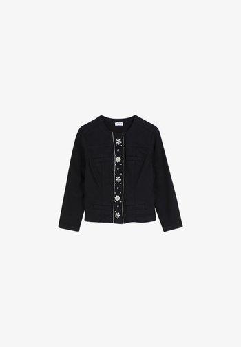 Summer jacket - black with appliqués