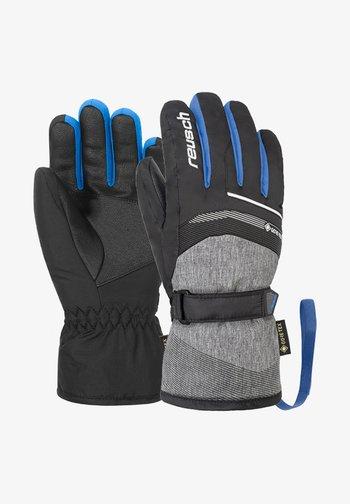 Gloves - blck blck mel brill blue