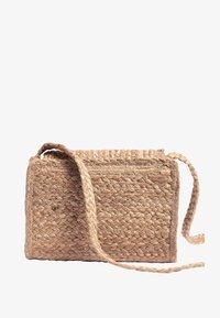 Next - BLACK JUTE ACROSS BODY BAG - Across body bag - beige - 1