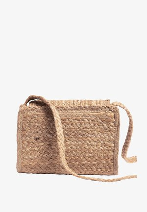 BLACK JUTE ACROSS BODY BAG - Bandolera - beige
