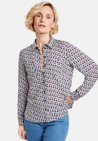 Gerry Weber - Button-down blouse - dark navy bleu druck - 0