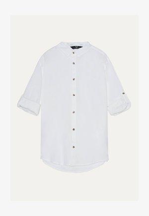 MIT HOCHGEROLLTEN ÄRMELN  - Skjorta - white