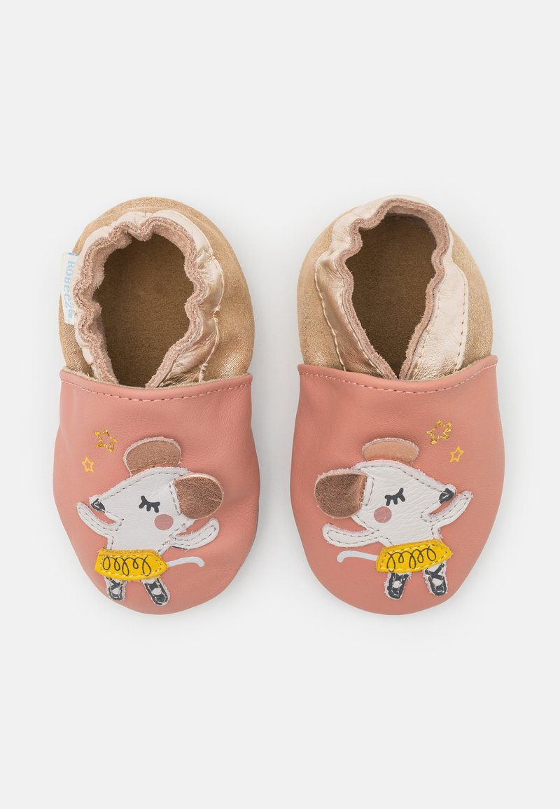 Robeez - BALLET MOUSE - First shoes - rose/peche metal