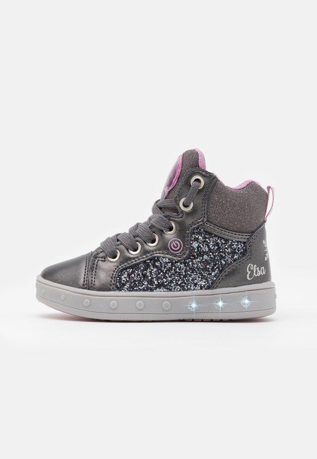 DISNEY FROZEN SKYLIN GIRL - Höga sneakers - dark grey/lilac