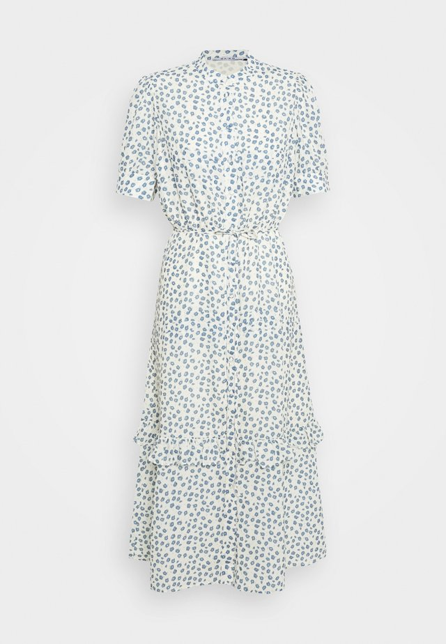 PUFF SLEEVE MIDI DRESS - Kjole - light yellow/blue