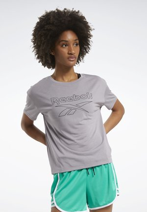 WORKOUT READY SUPREMIUM SLIM FIT BIG LOGO T-SHIRT - Print T-shirt - grey