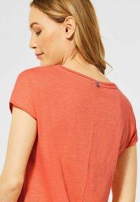 Cecil - Basic T-shirt - orange - 2