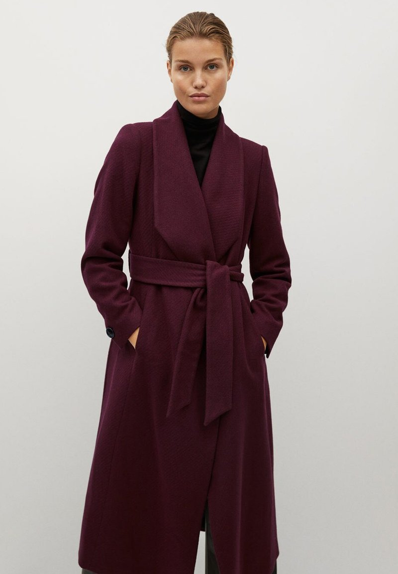 Mango - IN WICKEL-OPTIK - Winter coat - bordeaux