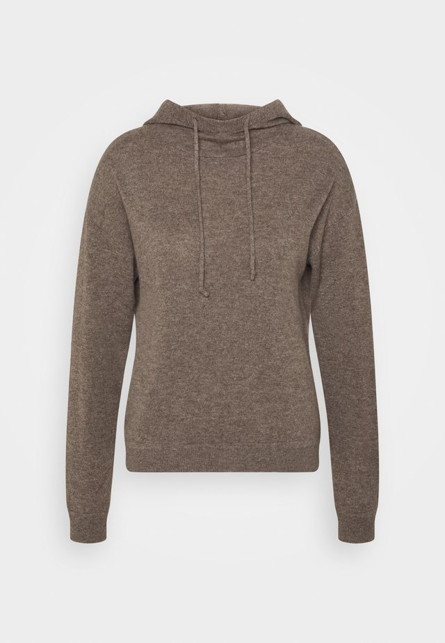 HOODY - Strickpullover - truffle
